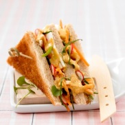 Sandwich végétarien. (c) Yves Bagros