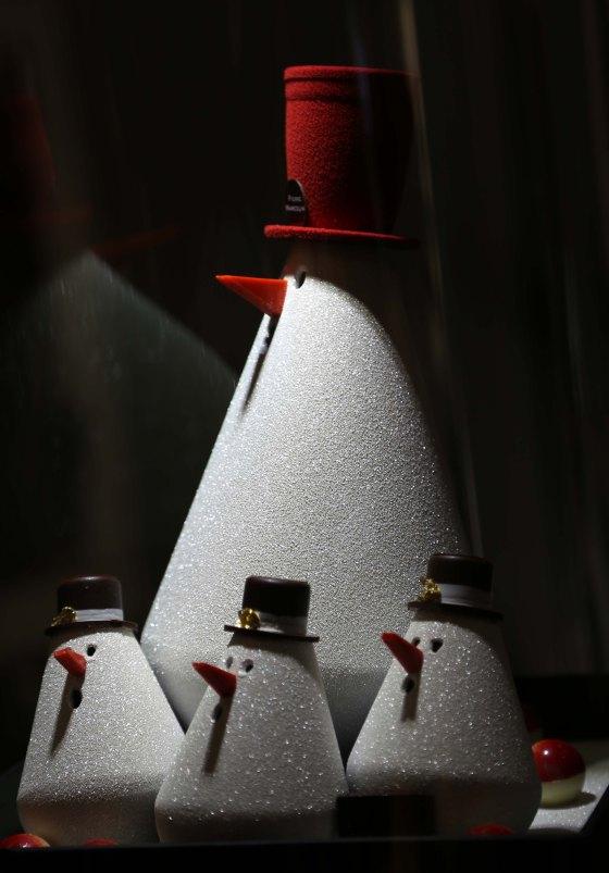 Sapin, c'est le nom des ces majestueux bonhommes de neige tout chocolat. J'aime. (c) Sarah Vasseghi